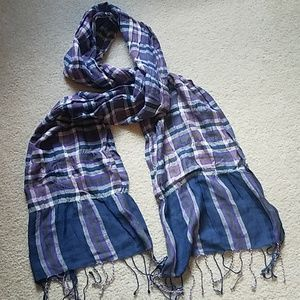 Accessories - Purple and Navy Plaid Scarf